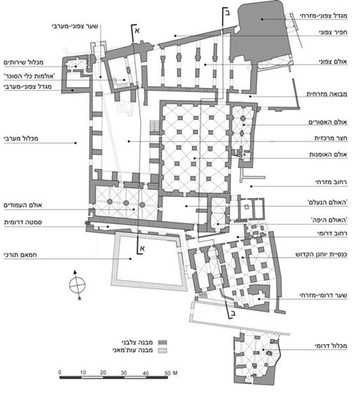 Plan of the Knights Hospitaller Compound
